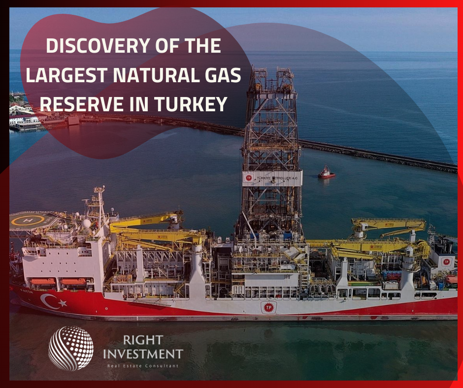 Discovery of the largest natural gas reserve in Turkey
